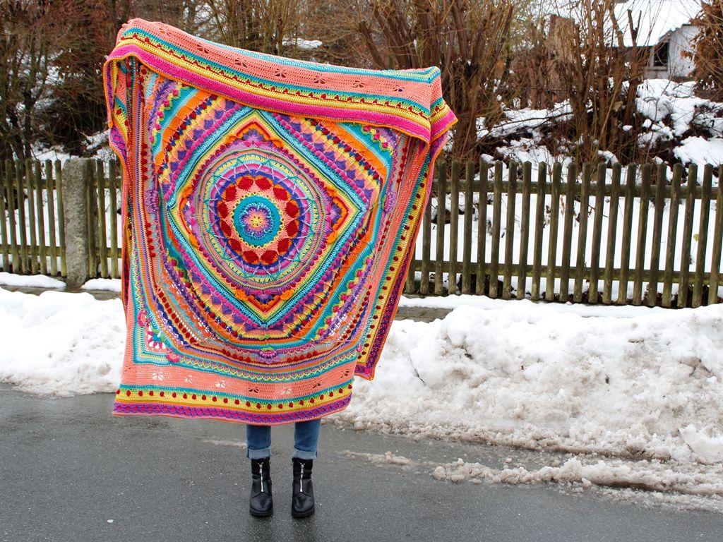 Das Ist Sie Unsere Fertige Decke Im Mandala Style Alle