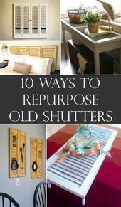 Repurpose old shutter into something useful and beautiful instead to throw them  Repurpose old shutter into something useful and beautiful instead to throw them away repu...