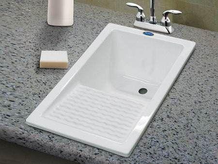 Lavadero vertical acrilico termoformado ideal en for Pila lavadero ikea