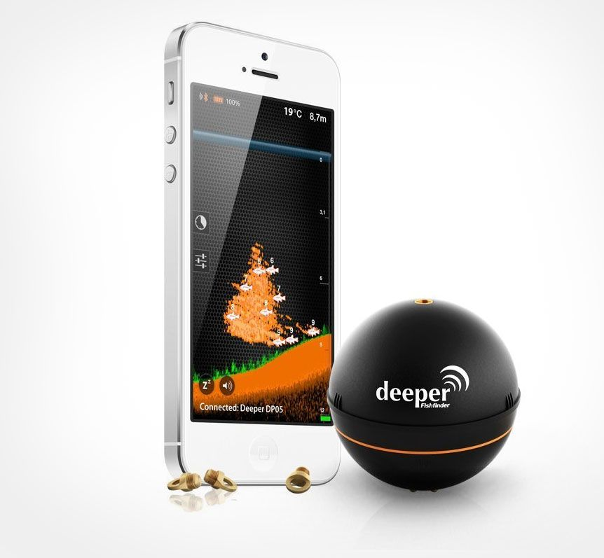 Deeper a sonar fish finder that connects to your phone for Ibobber ice fishing