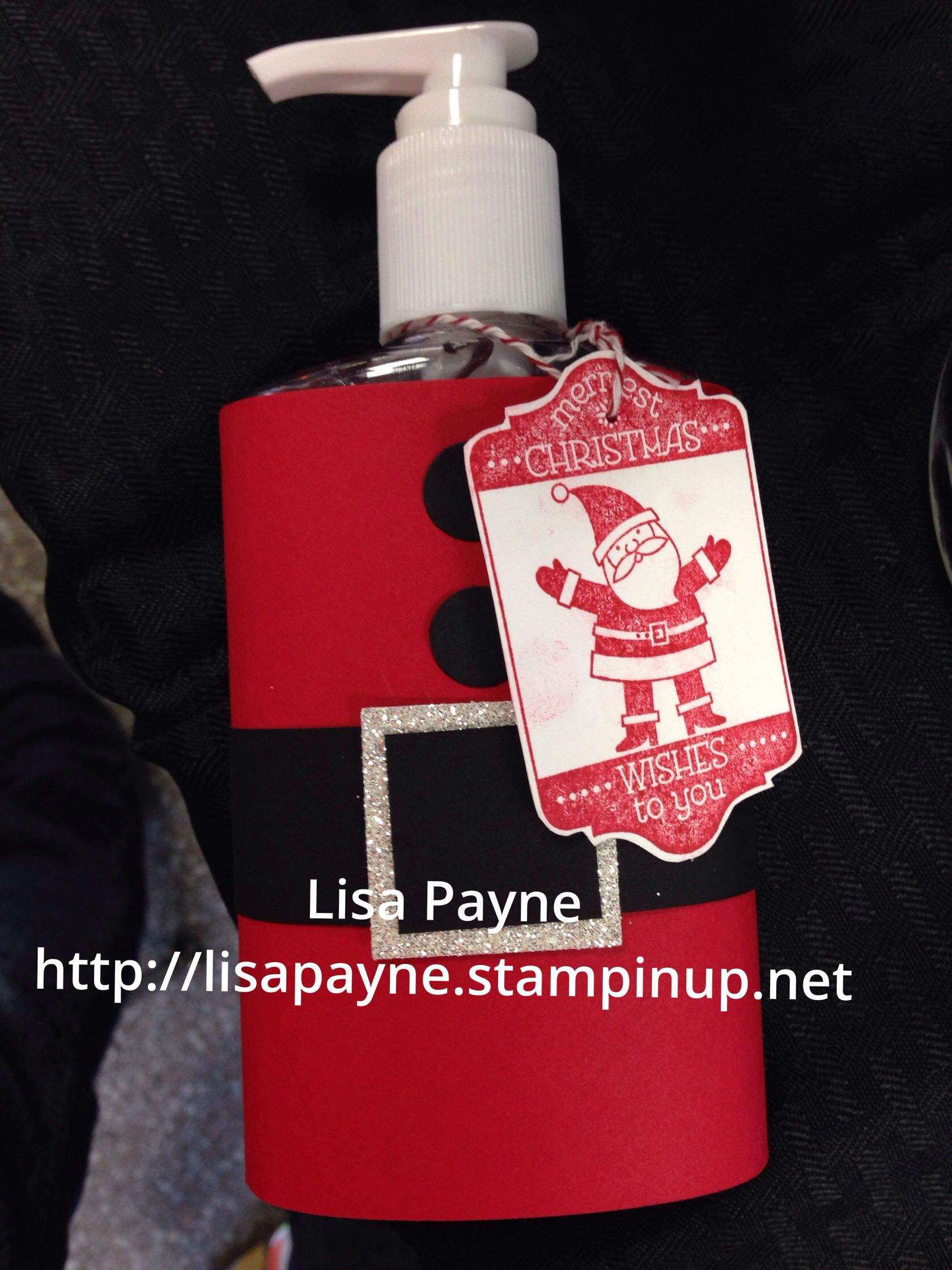 Stampin Up Santa Hand Sanitizer Teacher Friend Gifts Stampin Up