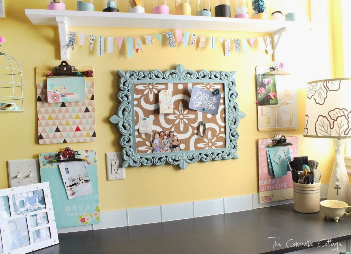 The Concrete Cottage: Craft Room Reveal - I love all her decor ...