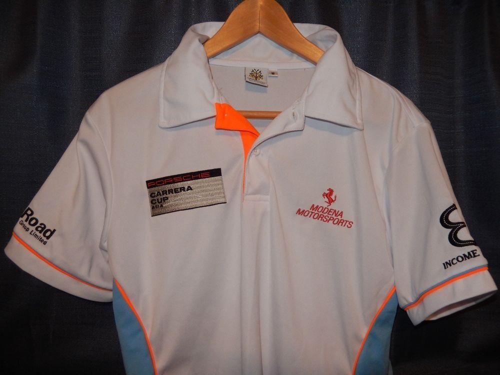 Porsche Carrera Cup Asia Pit Crew Polo Shirt Modena Motorsports PCC PCCA  Racing