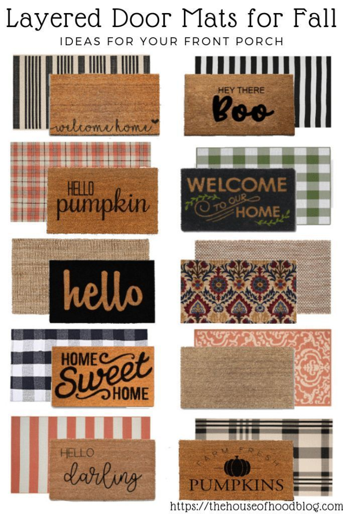 Front Porch Door Mat Layering Ideas for Fall -