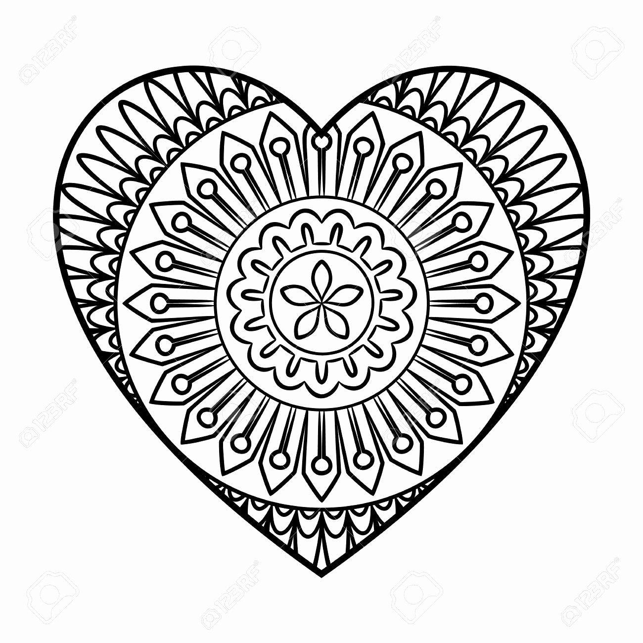 Coloring Pages Design Heart Inspirational Mandala Boyama Resimleri