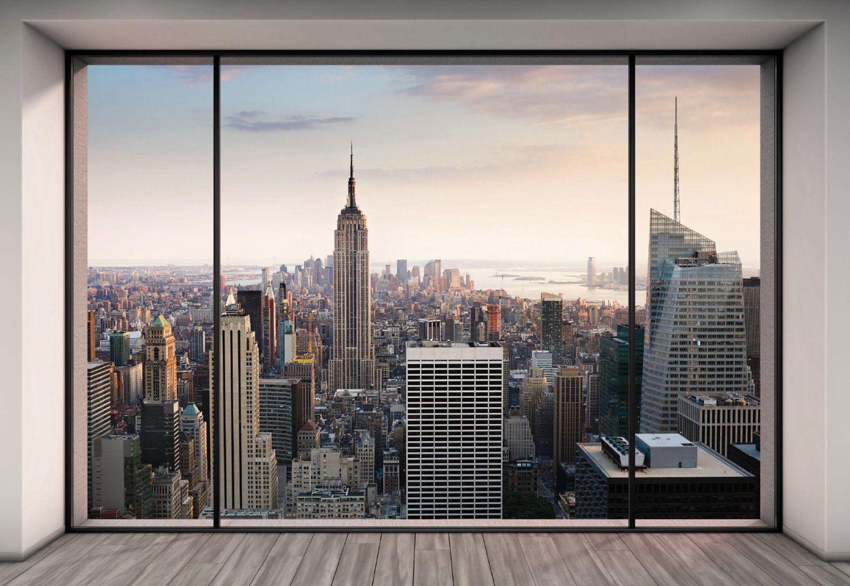 Fototapete blick aus dem fenster  KOMAR Fototapete Penthouse, 368 x 254 cm / 8-tlg.: Amazon.de ...