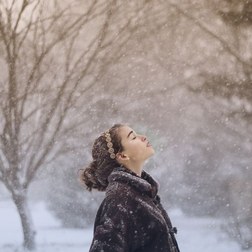 Feel the flakes on your face. Sometimes I wish I lived somewhere with real seasons.