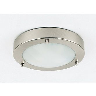 Screwfix Bathroom Lighting: Portal Bathroom Ceiling Light Brushed Chrome G9 25W   Bathroom Ceiling  Lights   Screwfix.com,Lighting