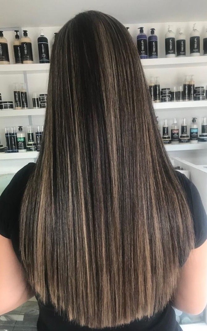Pin By Ananya On Chocolate Brown Hair Color Brown Straight Hair Straight Blonde Hair Hair Streaks