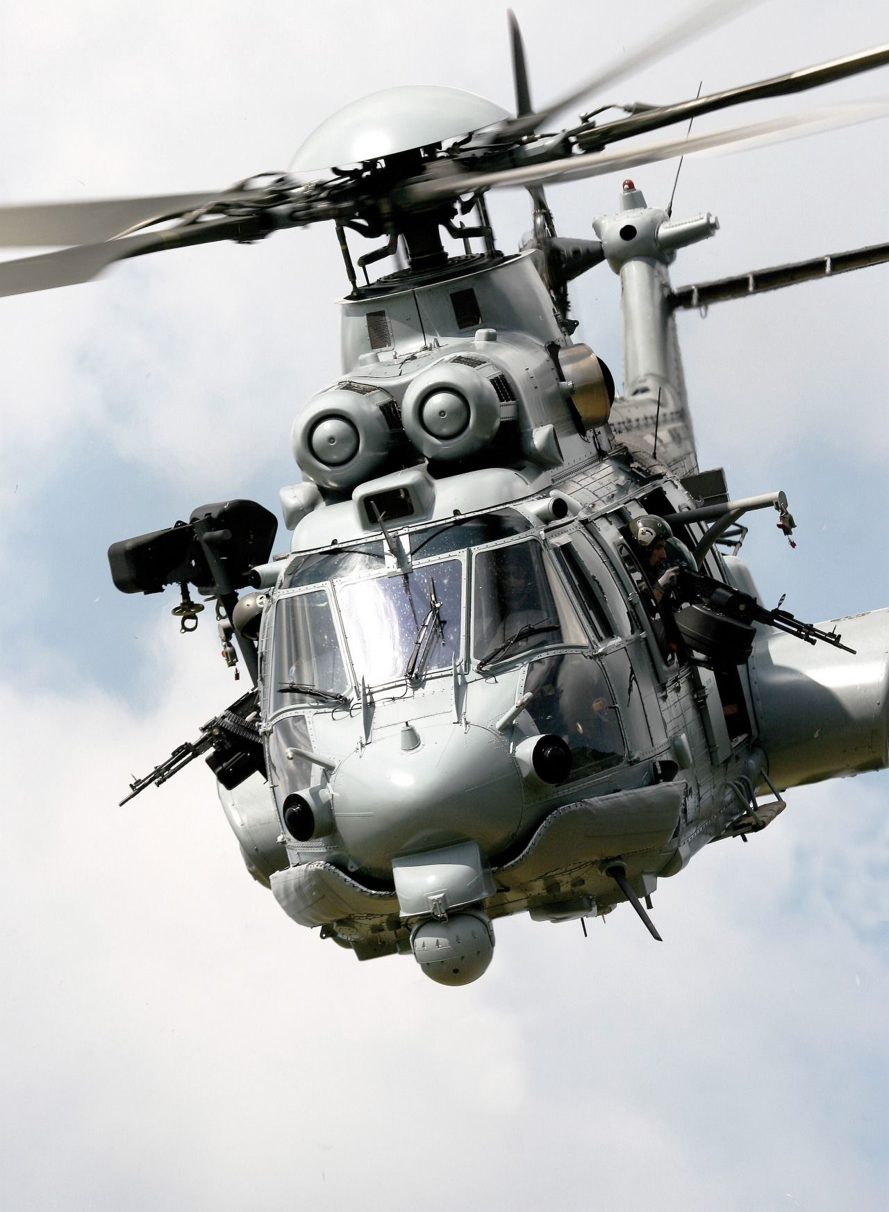 This helicopter is an Eurocopter EC 725 Super Cougar MkII ...