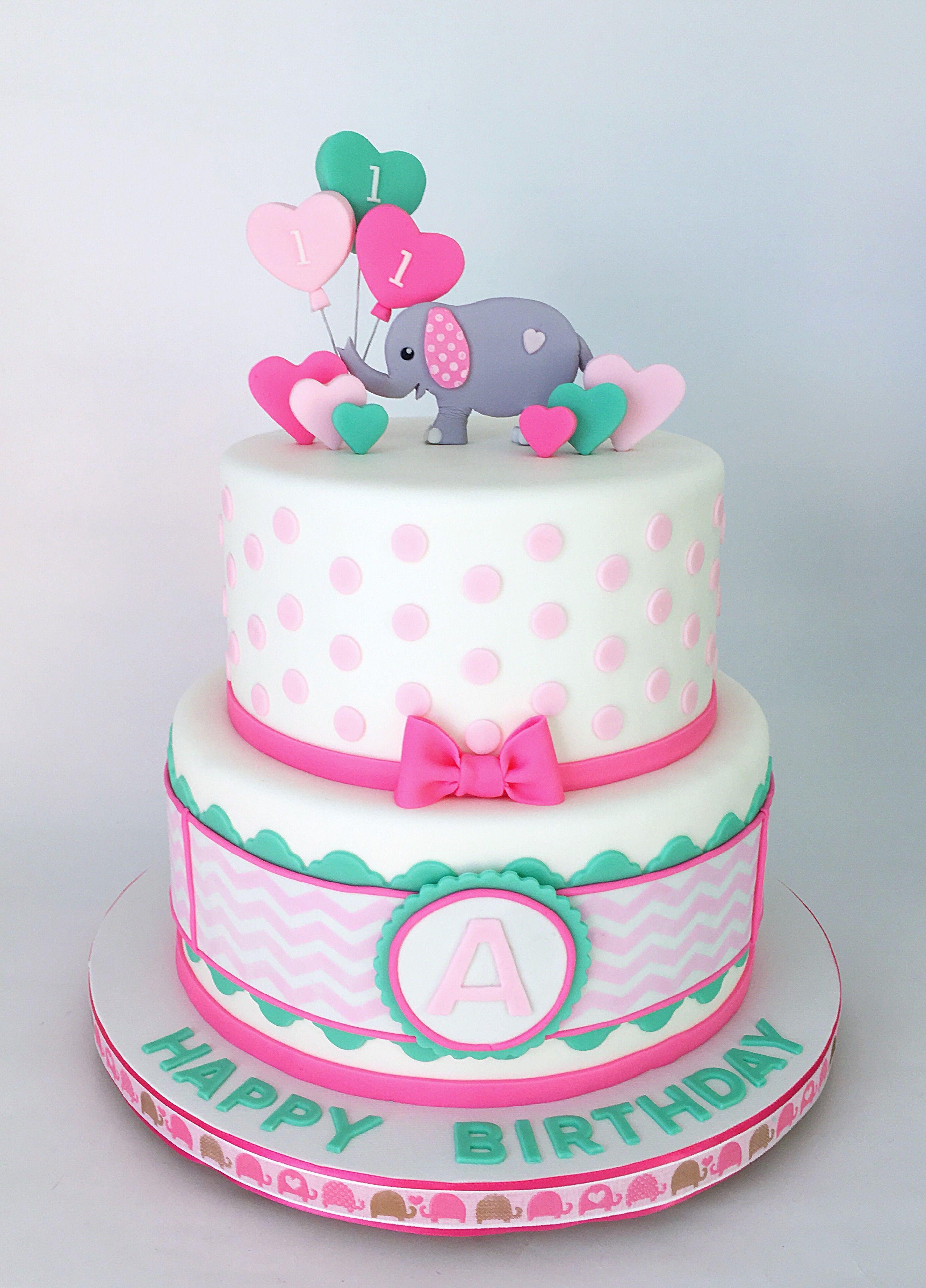 Amazing Baby Elephant 1St Birthday Cake With Images Elephant Birthday Funny Birthday Cards Online Chimdamsfinfo