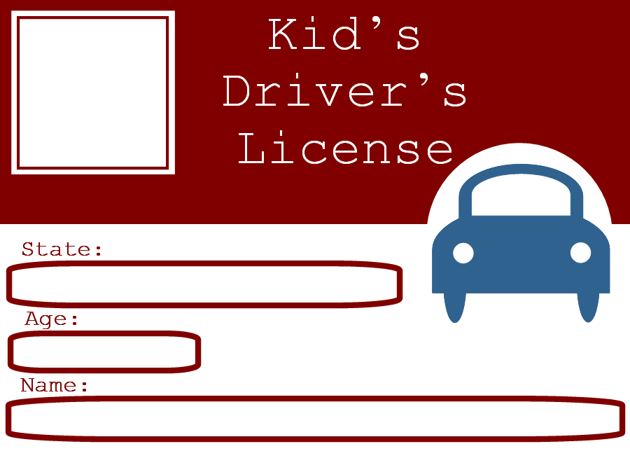 Blank Drivers License Template For Kids