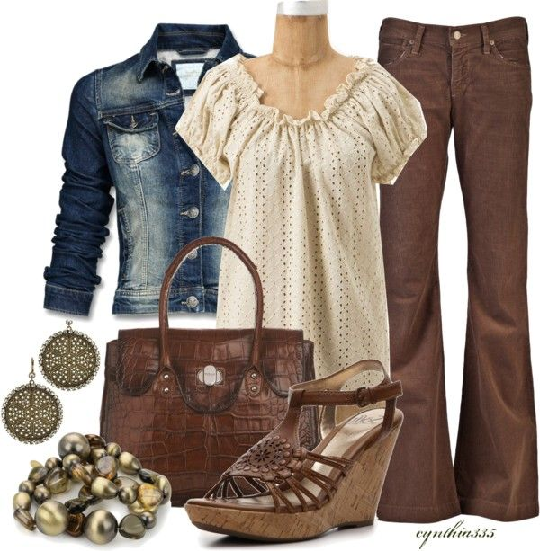 """""""Eyelet Blouse"""" by cynthia335 on Polyvore"""