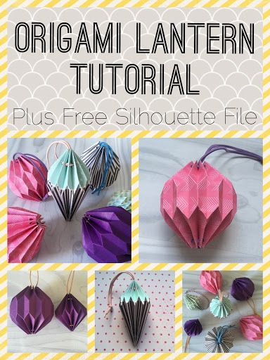 Origami Tutorial Plus Free Silhouette File By Nadine Muir From