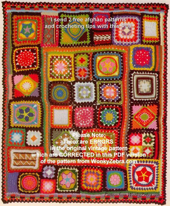 Ganchillo manta patrón PDF 195 afgano abuela plus BONUS   Ganchillo ...