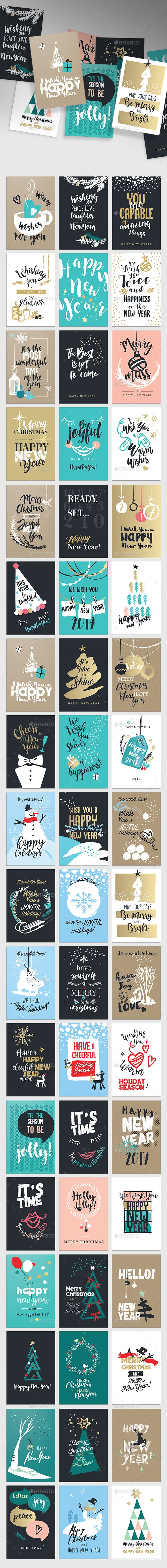 Christmas and new years greeting cards photoshop cards and christmas and new years greeting cards photoshop psd set illustration download reheart Choice Image