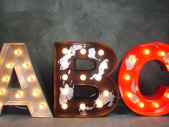Lighted Wooden Letters Easy Craft Ideas