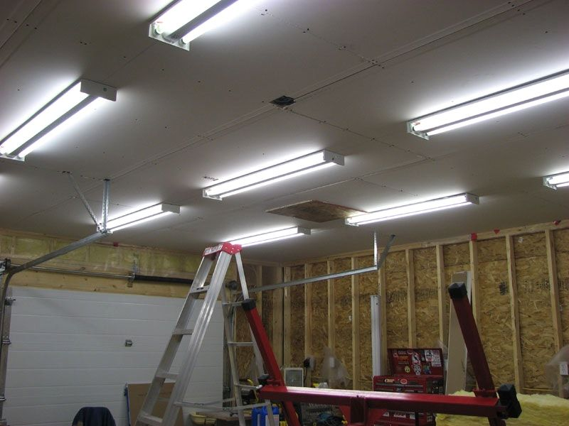 50 Garage Lighting Ideas For Men Cool Ceiling Fixture Designs