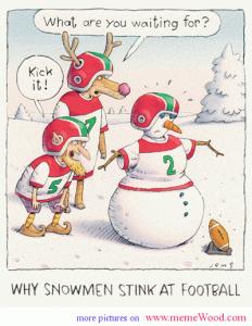 Christmas Comics.Comic Christmas Cartoons Snowmen And Football Snowmen With