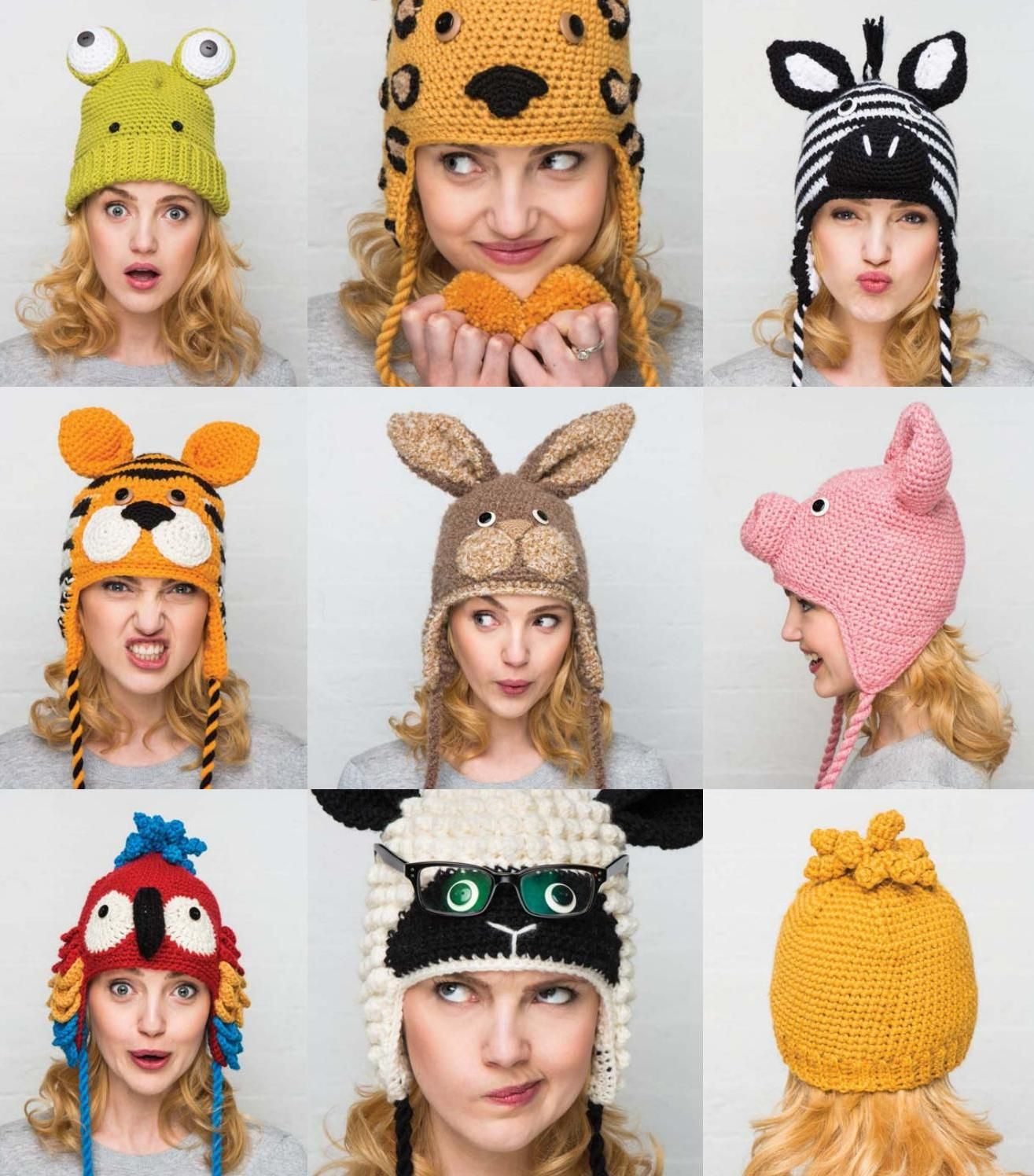 Crocheted animal hats 15 projects to keep you warm and toasty by Liên Huỳnh - issuu
