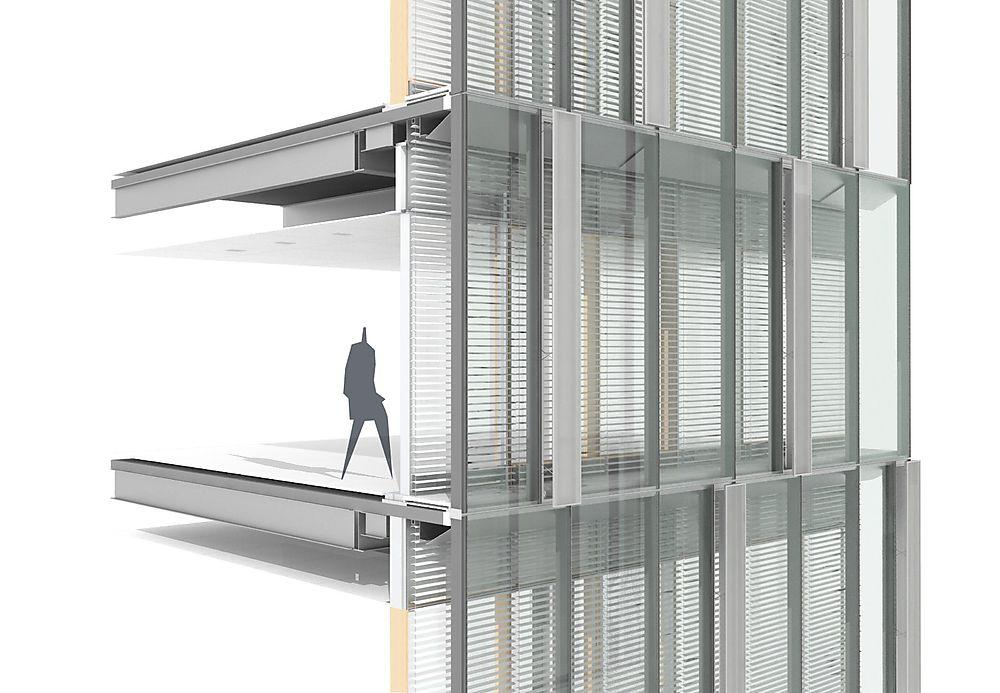 Double Skin System Facade Design Architectural Section Facade