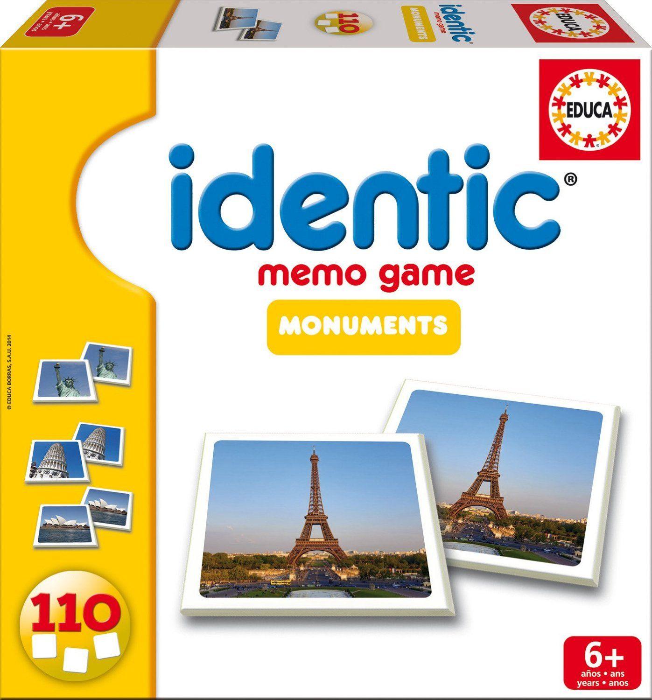 Educa 16238 Jeu De Societe Identic Monuments 110 Cartes Amazon Fr Jeux Et Jouets Jeux De Societe Cartes Jeux