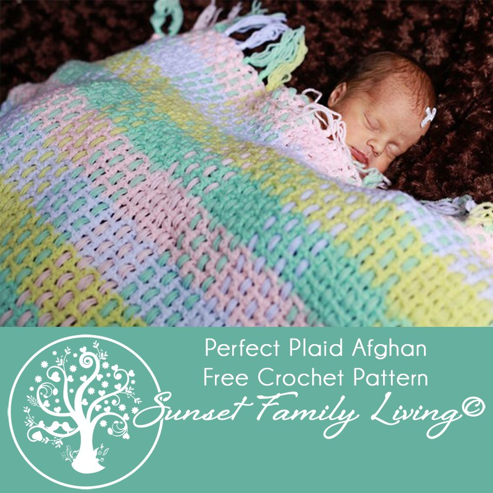 Perfect Plaid Afghan Free Crochet Pattern | crochet blanket | Pinterest
