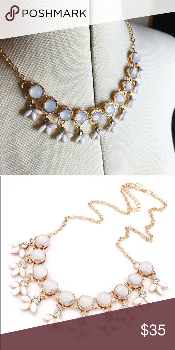 Beautiful Wila Statement Necklace This is a gorgeous light blush statement necklace! The second pic is by @shopwila Wila Jewelry Necklaces