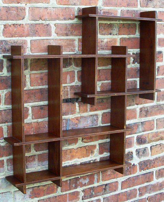 Vintage Wooden Shadow Box Wall Shelf
