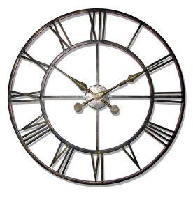 Huge Wrought Iron Bronze Wall Clock Love Decor Large