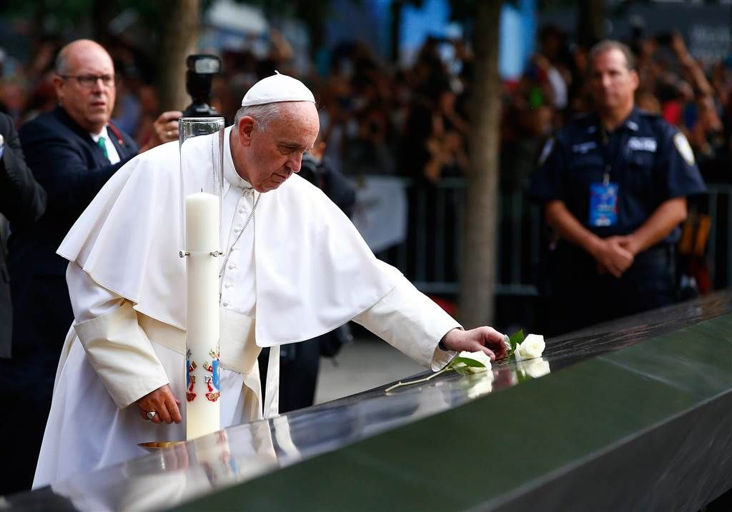 'Here Grief is Palpable': Pope Prays at Ground Zero