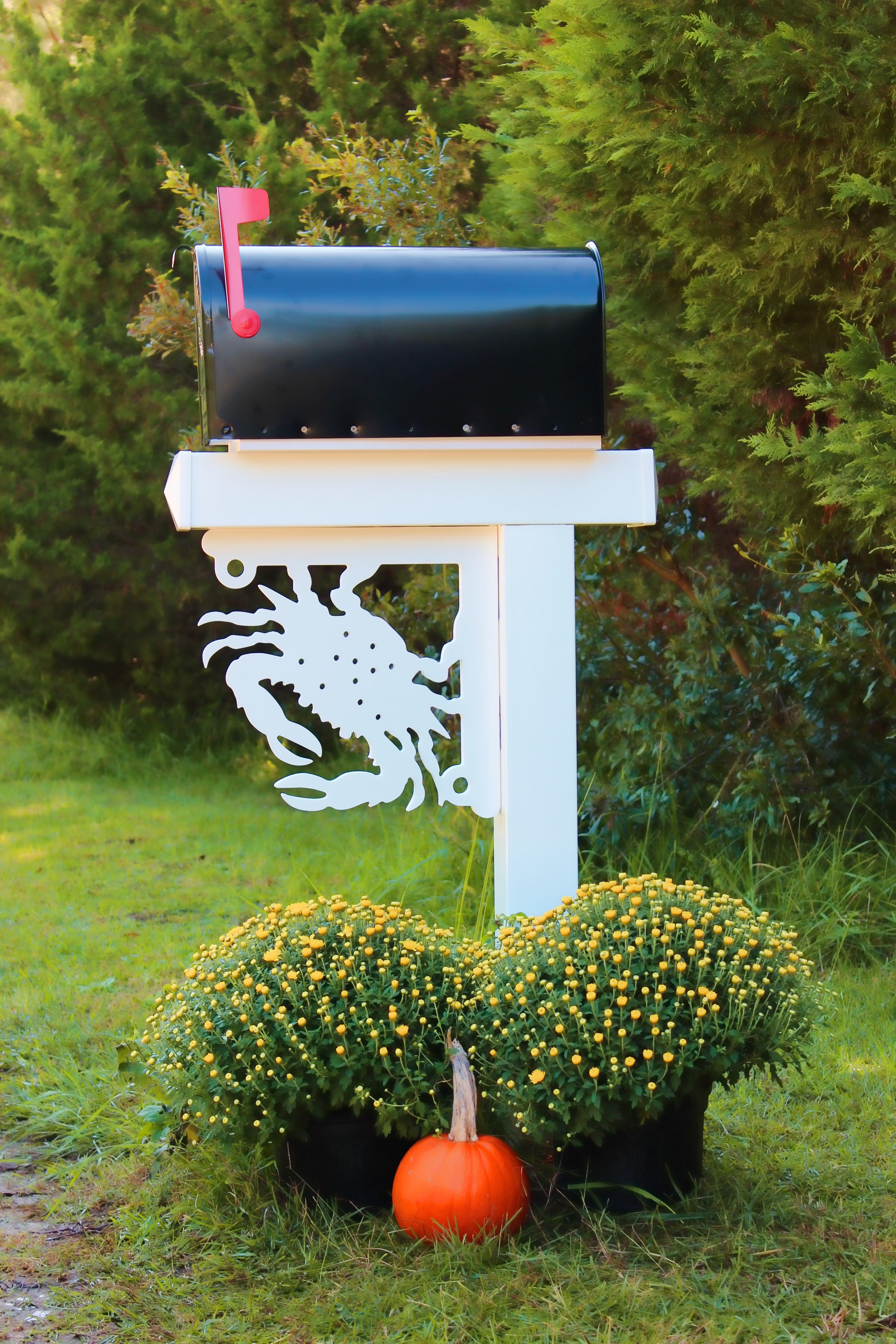 blue crab mailbox corner bracket our nautical mailbox brackets