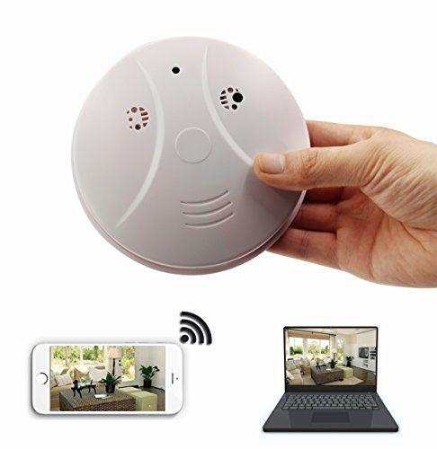 Dvr Wifi Hidden Camera Smoke Detector Nanny Spy Cam With 90 Wide