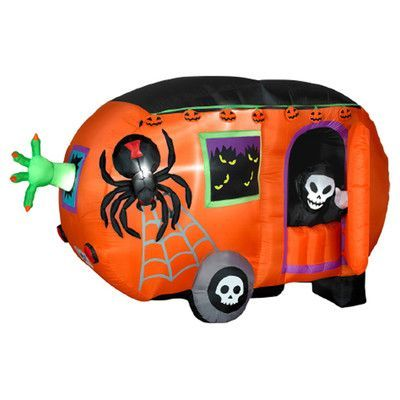 gemmy industries airblown halloween inflatable camper halloween decoration - Blow Up Halloween Decorations