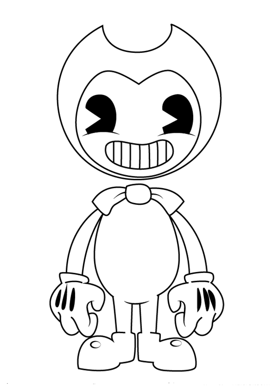 Bendy Coloring Pages Coloring Pages Pinterest Bendy And The