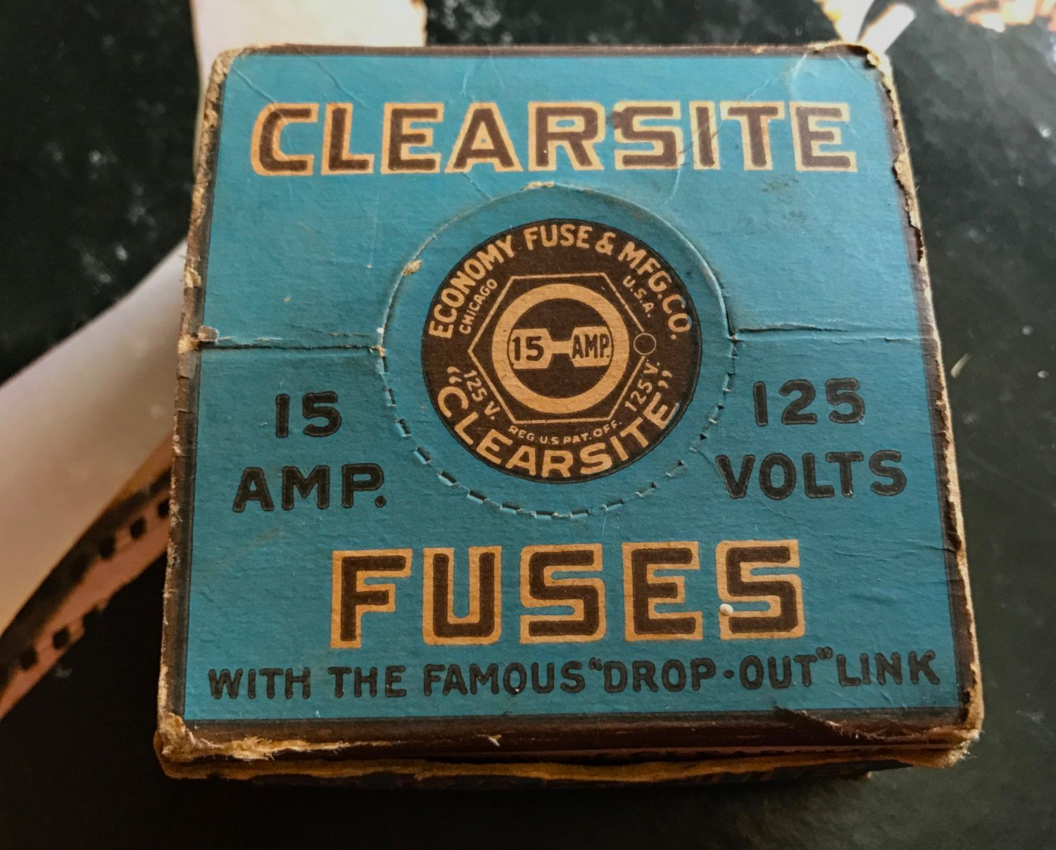 Old 15 Amp Fuse Box Blown Wiring Diagrams 20 Vintage 1950s Of Clearsite Fuses 125v Plug
