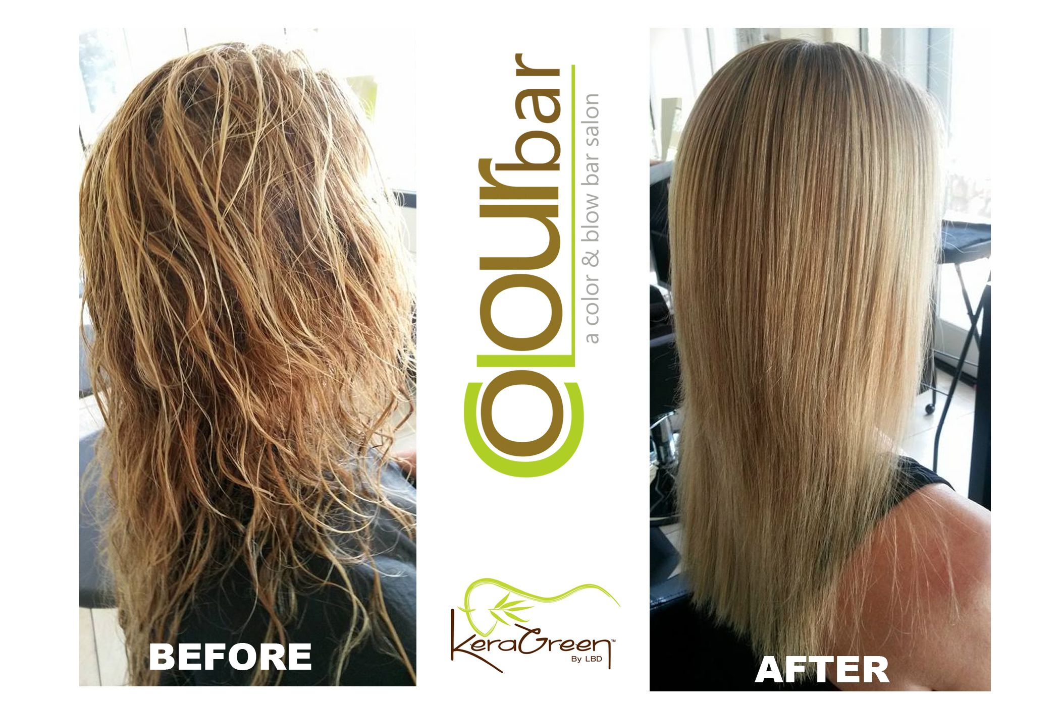 Check out this awesome transformation!  KeraGreen is a plant based smoothing treatment. It delivers smooth, frizz-free hair with out any damage.