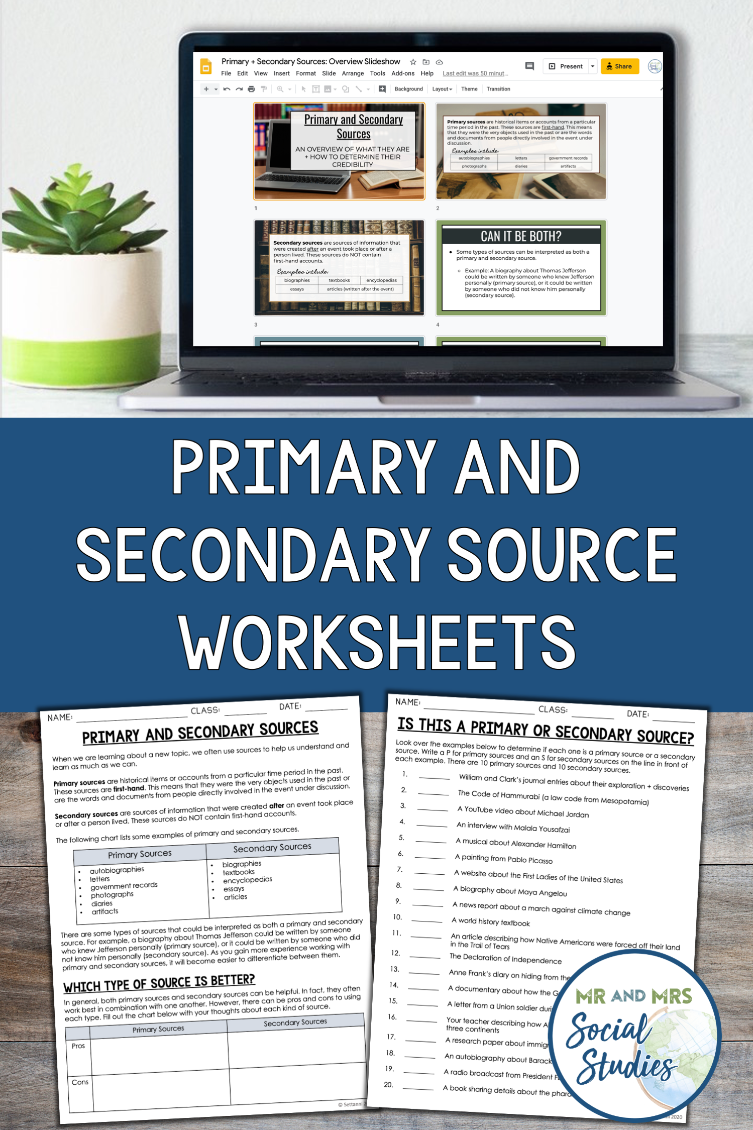 Primary And Secondary Sources Activity Slideshow