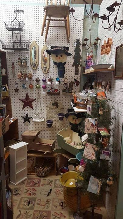 Booth #117 at Scranberry Coop, Andover NJ. Yelloware, snowmen, Barn Stars - the original Hex Signs! Wood, Christmas, Ornaments and more!