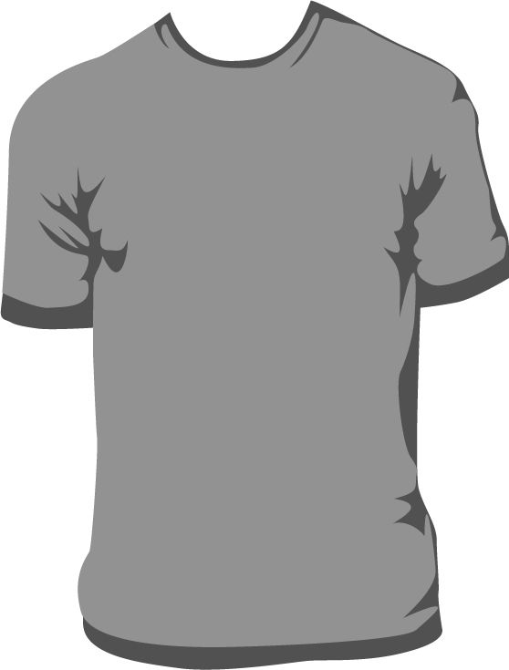 This is a tshirt vector that I made, and I actually just traced it - t shirt template