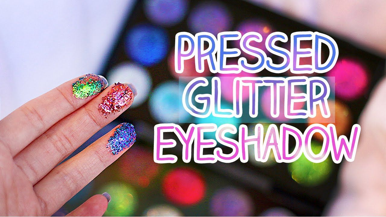 DIY Inexpensive Pressed Glitter Eyeshadow Glitter