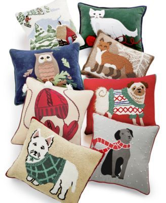 CLOSEOUT Martha Stewart Collection Winter And Animals Decorative Beauteous Martha Stewart Decorative Pillows