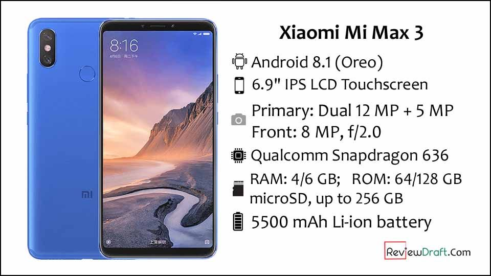 Xiaomi Mi Max 3 Price In Bangladesh Full Specification Review Draft Xiaomi Max Phablet