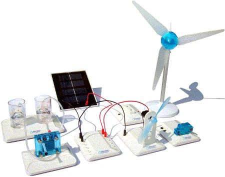 Renewable education kit for solar fuel cell and wind for Solar energy projects for kids