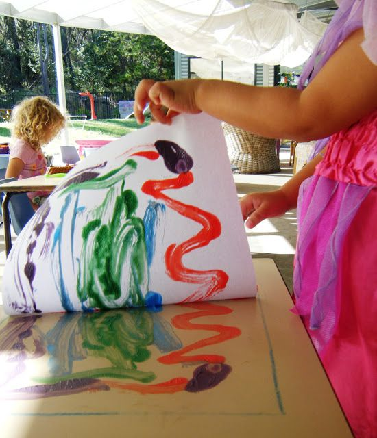 preschool art table. Table Top Printing-use As A Center With Line Unit-pastel, Chalk,. Preschool ProjectsPreschool ArtPreschool Art M