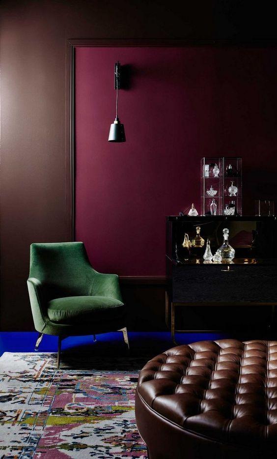 E-Buch Samt Bordeaux Sessel Leidenschaft-Tendenzen Modern chairs