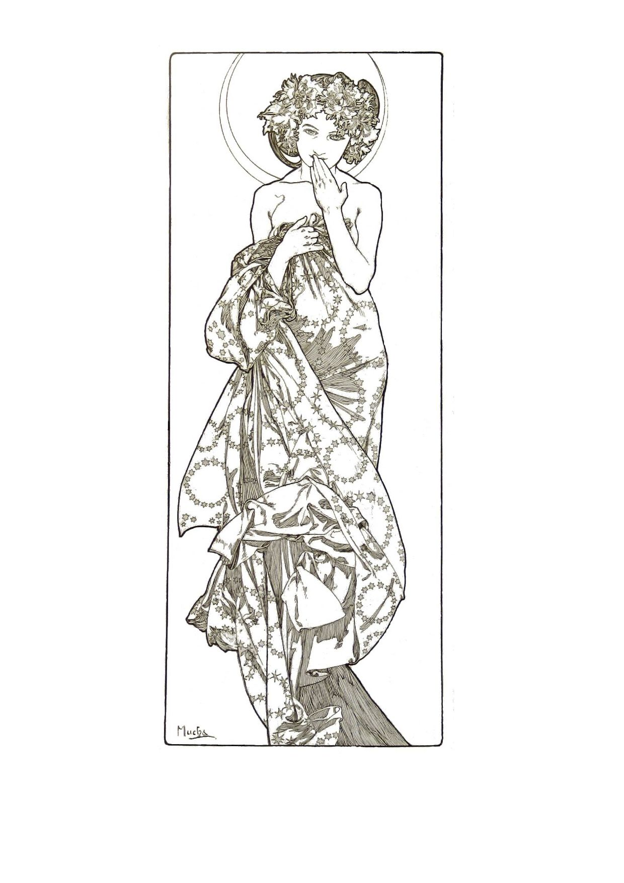 Alphonse Mucha coloring pages - Bing Images | Coloring ...