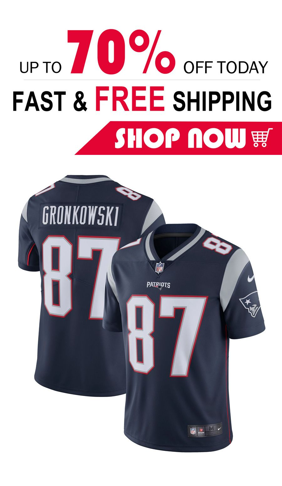 Rob Gronkowski New England Patriots Nike Vapor Untouchable Limited Player Jersey Navy New England Patriots Football Jersey Gronkowski