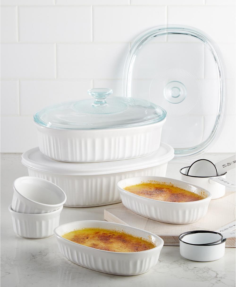 Corningware French White 10 Pc Bakeware Set Created For Macy S
