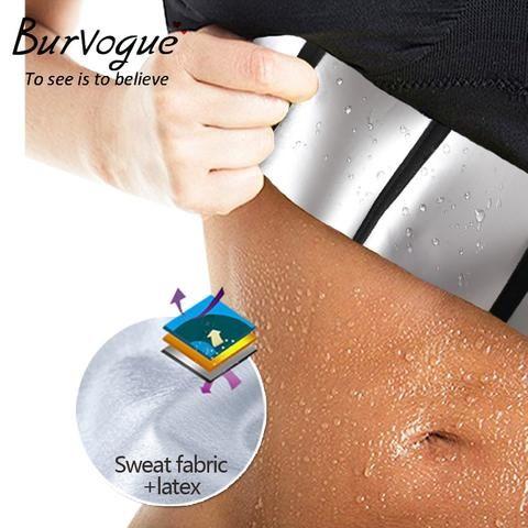 9e0e7416213 Burvogue Slimming Belt Women Waist Trainer Corsets and bustiers Sweat Silver  Coating Latex Corset 9 Steel Boned Underbust Corset